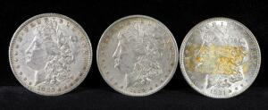 1880 O, 1889 O, And 1921 Morgan Silver Dollars