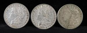 1880, 1884 And 1921 S Morgan Silver Dollars