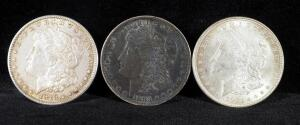 1878 S, 1883 O, And 1921 Morgan Silver Dollars