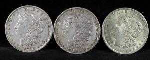 1879, 1885, And 1921 Morgan Silver Dollars