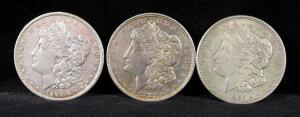 1890, 1921 And 1921 D Morgan Silver Dollars