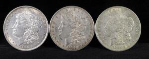 1878, 1879, And 1921 Morgan Silver Dollars