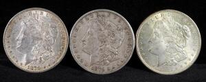 1879, 1879 S, And 1921 Morgan Silver Dollars