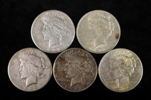 Peace Dollars, Years Include 1922 S (2), 1923, 1923 S And 1926 O