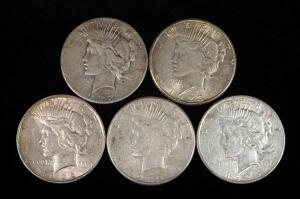Peace Dollars, Years Include 1922 S, 1922 D, 1923 S (2) And 1926 S