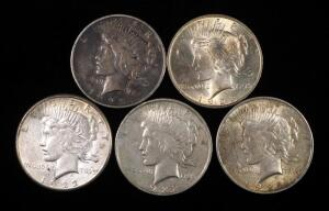Peace Dollars, Years Include 1922 (2), 1922 S And 1923 (2)
