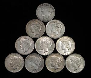 Peace Dollars, Years Include 1922 (2), 1922 D (2), 1923 (3), 1923 S (2) And 1923 D
