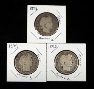 Barber Half Dollars, Years Include 1893, 1895 And 1899