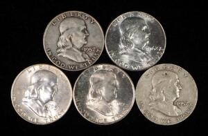 Franklin Half Dollars, Years Include 1949 S, 1957 D (3) And 1962