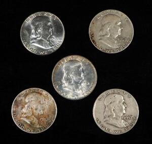Franklin Half Dollars, Years Include 1951 D, 1952 D, 1957 D, 1963, And 1963 D