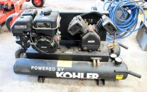 Kohler SH265 Gas Powered Portable Air Compressor With Twin Tanks