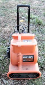 Portable Ridgid Electric Air Mover With Adjustable Handle