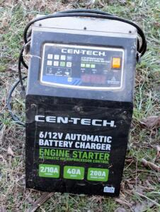 Cen-Tech 6/12 V Automatic Battery Charger with Engine Jump Start And Jumper Cables
