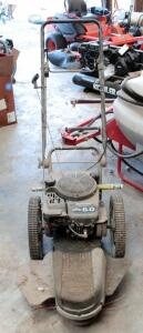 Craftsman Gas Powered Two Wheeled Weed Trimmer With Briggs And Stratton Mower, Model 917.773706, Unknown Working Order