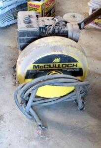 McCulloch Gas Powered Portable Generator, 3500 Watt, With 8 Horsepower Briggs And Stratton Motor, Unknown Working Order