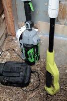 EGo Cordless Battery Powered Weed Trimmer, Model ST1520S, And Ryobi Electric 8in Pole Saw, Model RY43161 - 3