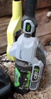 EGo Cordless Battery Powered Weed Trimmer, Model ST1520S, And Ryobi Electric 8in Pole Saw, Model RY43161 - 8