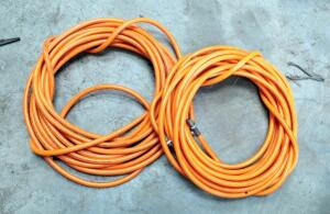300 PSI Pneumatic Air Hoses, Qty 2, Unknown Lengths
