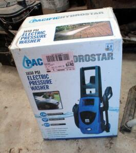 Pacific Hydrostar Electric Pressure Washer, 1650 PSI, New In Box