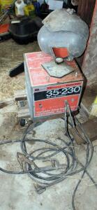 Craftsman Electric Arc Welder, Model 113.201472, Unknown Working Order, And 3 Vintage Welding Hoods