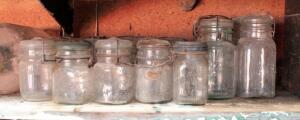 Vintage Glass Ball Canning Jars, With Wire Tensioner, Qty 20