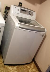 LG True Balance Direct Drive High Efficiency Washer, Model Number WT5270CW, 44.5in x 27in x 28in