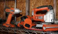 Ridgid Cordless Power Tools, Including Screw Driver, Saw, Impact Driver, Caulk Gun, And Flash Light, No Charger Or Batteries - 4