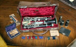 Vintage Selmer Paris Clarinet, Wood, K-6723 Series, With Original Carrying Case, Reeds, Mouthpieces, And Joints