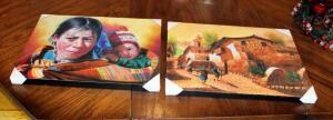 Native American Decorative Prints, Qty 2, Both 12in X 16in