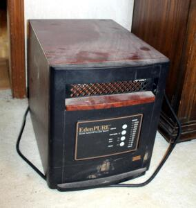 Eden Pure Infrared Portable Heater, Gen4, Model USA1000, Powers On, No Remote