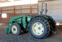 John Deere 5310 Diesel Tractor With Hydraulic Front Bale Spike, 1861.2 Hours Showing, 64HP, Sync Shuttle Transmission, Front Wheel Assist, See Description For Video - 2