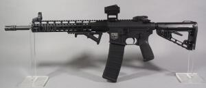 Diamondback DB-15 .300 Blackout Rifle SN# DB1562184, Vortex Crossfire Red Dot Sight, Truglo Laser, Ruger Flip-Up Front Sight, Adjustable Stock