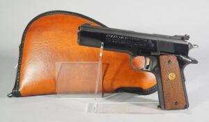 Colt MKIV Series 70 Gold Cup National Match .45 Auto Pistol SN# 70N47805, In Kolpin Leather Case