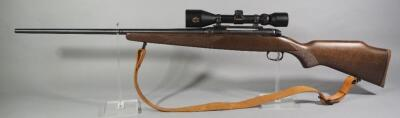 Savage Model 110 7mm REM MAG Bolt Action Rifle SN# G003217, With Simmons Aetec 2.8-10x44 Scope And Leather Sling
