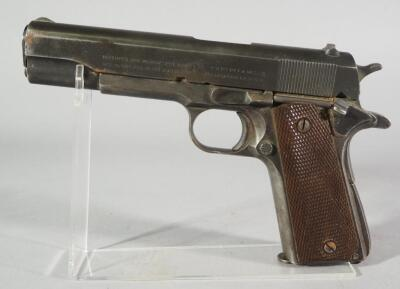 Colt M1911A1 US Army United States Property .45 ACP Pistol SN# 1010951, Crossed Cannons, Flaming Cannonball