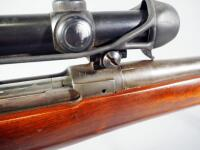 US Springfield Armory M1A1 30-06 Bolt Action Rifle SN# 1175557, With Hawthorne Scope And Leather Sling - 14
