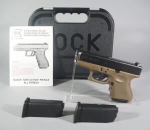 Glock 27 .40 Cal Pistol SN# KTP877, With 3 Total Mags And Paperwork, In Hard Case
