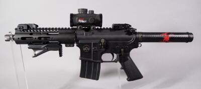 Quality Arms QAI-M-15 .223/5.56 Cal Pistol SN# QA 10917, With Tasco Red-Dot Sight, Midwest Industries Barrel, Flip Up Iron Sights