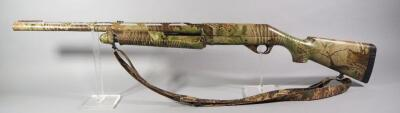 Benelli Nova 12 ga Pump Action Shotgun SN# Z126521, With Forest Camo Sling