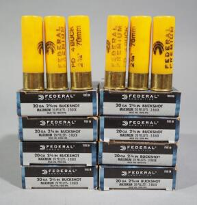 Federal 20 ga Buckshot, Approx 46 Rds, Local Pickup Only