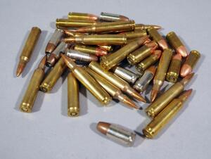 Assorted Ammo, Includes 9mm Luger, .223 REM And 5.56, Approx 36 Rds Total Qty, Local Pickup Only