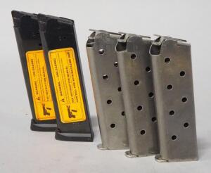 .45 Cal Mags For 1911, Qty 5