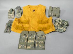 Digital Camo Pouches, Qty 6 And Red Head Hunting Vest