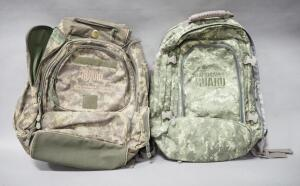 Pair Of National Guard Branded Backpacks With Multiple Pockets
