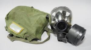 Gas Mask In Nylon Carry Case