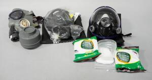 Gas Masks And Filters, Qty 3, 1 Is Israeli Civilian Gas Mask, Others Unmarked