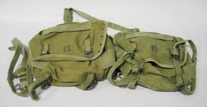 US Military Butt-Packs, Qty 2, And Butt-Pack Suspender