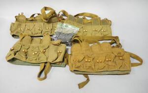 Vietnam Era 7.62 x 39 Ammo Carriers, Qty 4, And 20 SKS Stripper Clips