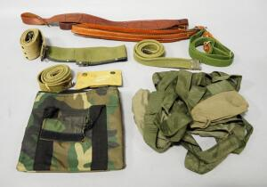Tooled Leather Sling, Padded Leather Sling, Canvas Military Belts, Camo Bag And More