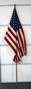 50 Star US Flag, Bulldog 3 ft x 5 ft, Cotton, With Flag Pole